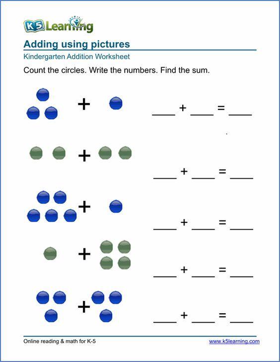 Kindergarten math worksheet: | Stærðfræði | Pinterest ...