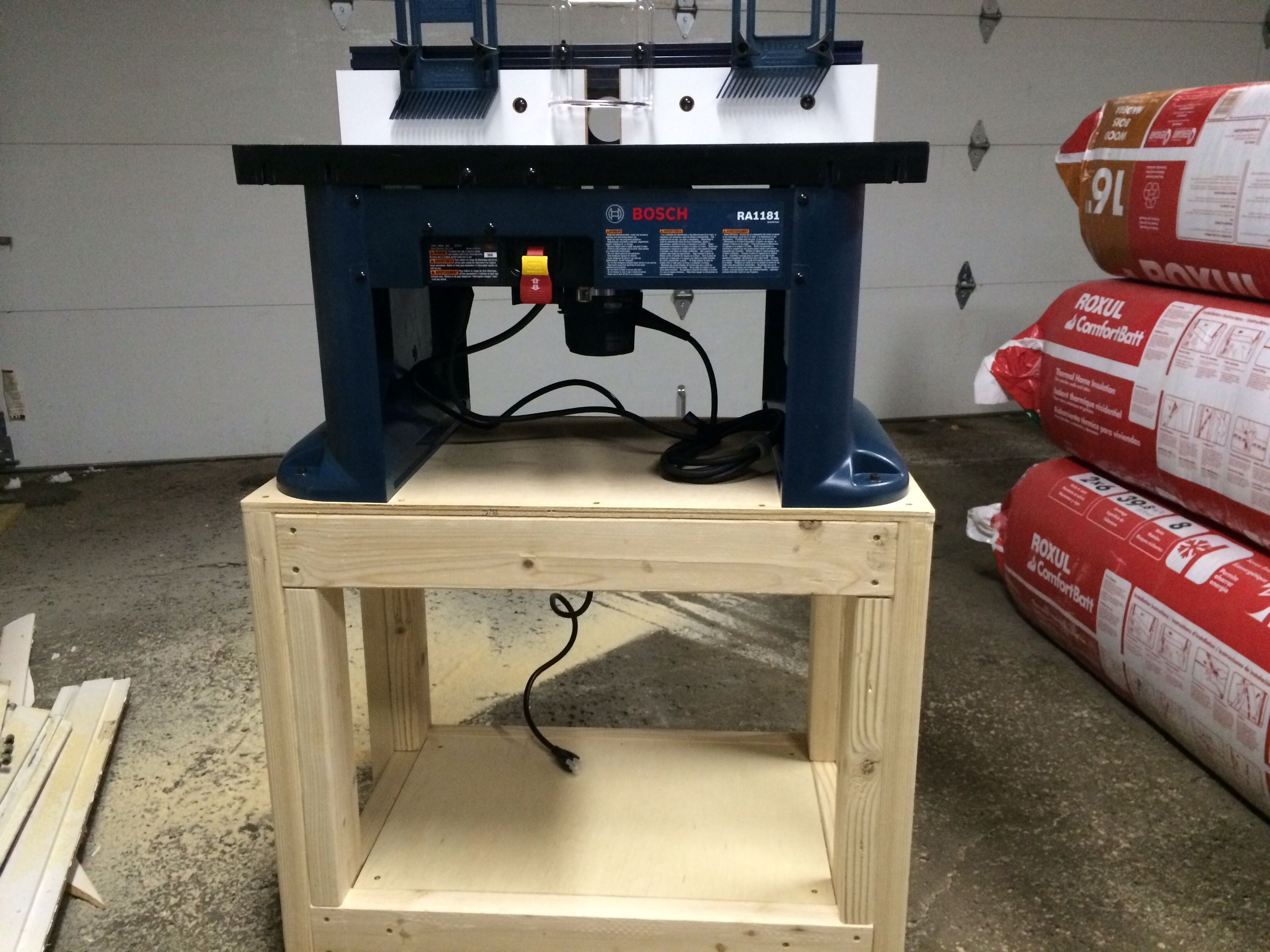 Bosch router table stand shop projects pinterest for How to make a router table stand