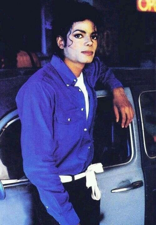 "Michael Jackson on the set of ""The way your make me feel"""