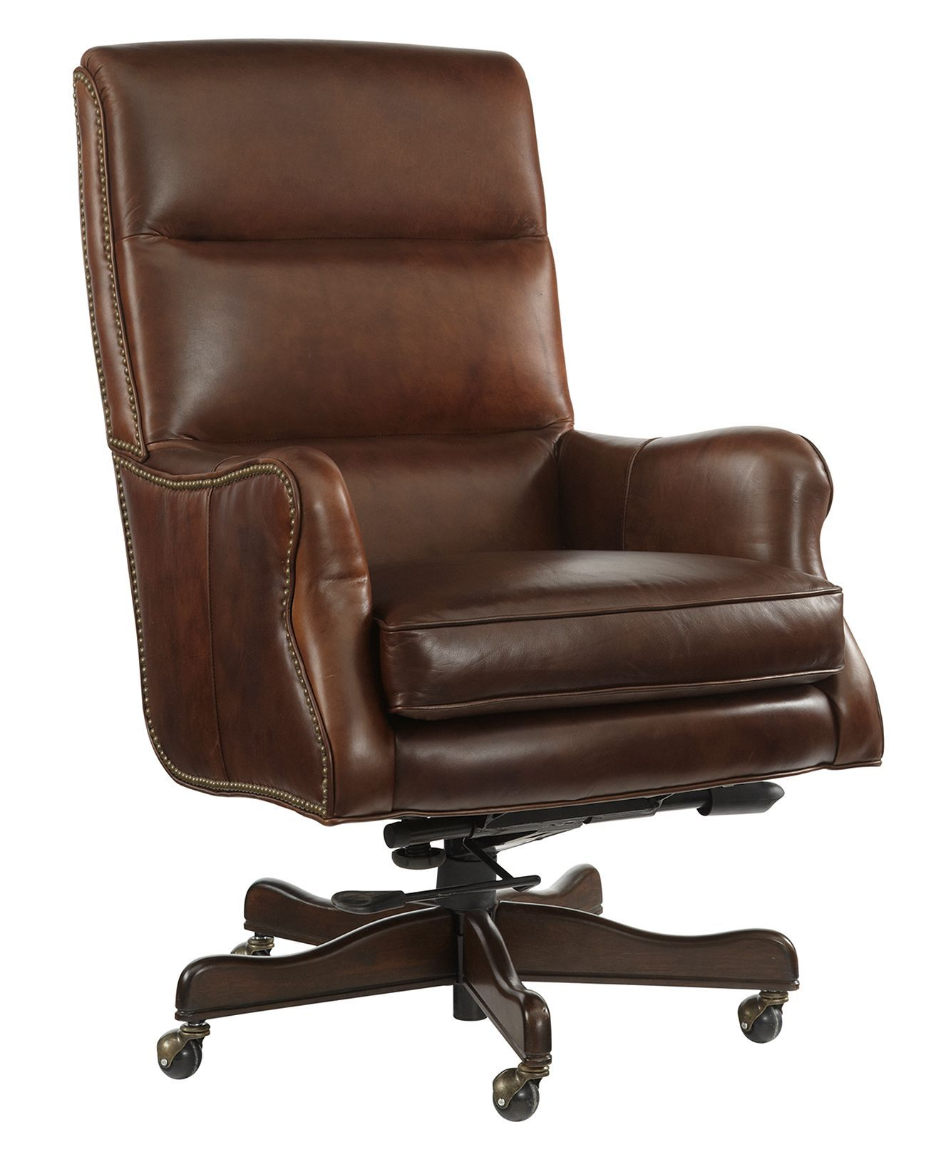 Buckley Leather Home Office Chair, Swivel Chairs