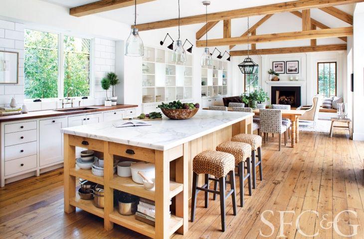 Step Inside A Modern Mill Valley Farmhouse Cottages Gardens Kitchen Design Island Decor Kitchens