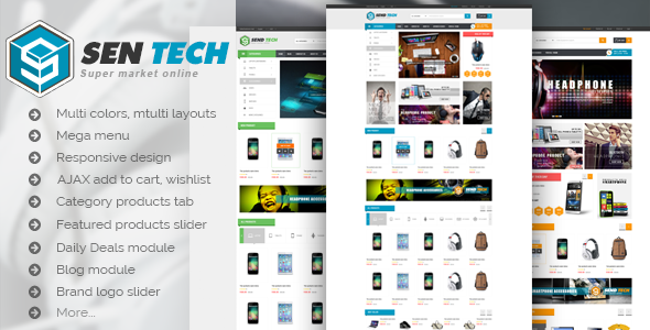 Sentech - Premium Responsive Magento Theme . Sentech has features such as High Resolution: Yes, Compatible Browsers: IE9, IE10, IE11, Firefox, Safari, Opera, Chrome, Compatible With: Bootstrap 3.x, Software Version: Magento 1.9.2.4, Magento 1.9.2.3, Magento 1.9.2.2, Magento 1.9.2.1, Magento 1.9.2.0, Magento 1.9.1.1, Magento 1.9.1.0, Magento 1.9.0.1, Magento 1.9.0.0, Magento 1.8.1.0, Magento 1.8.0.0, Magento 1.7.0.2, Magento 1.7.0.1, Magento 1.7.0.0, Columns: 4+