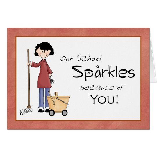 School Custodian Thank You Card | pto | Teacher ...