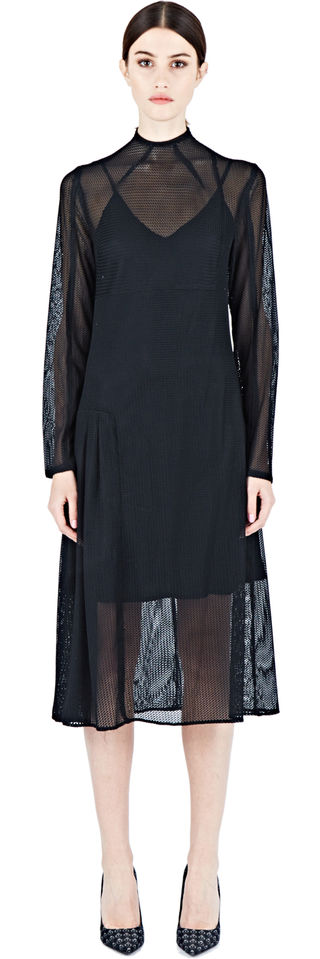 ÖHLIN/D Long Woven Mesh Dress