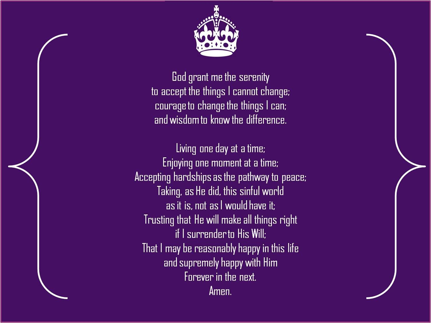 Serenity Prayer | Decor I Want/Need | Pinterest | Full serenity prayer