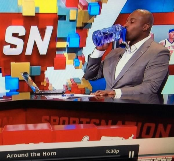 Marcellus Wiley Drinking From Enviroproducts 2 2 Liter Bottle On