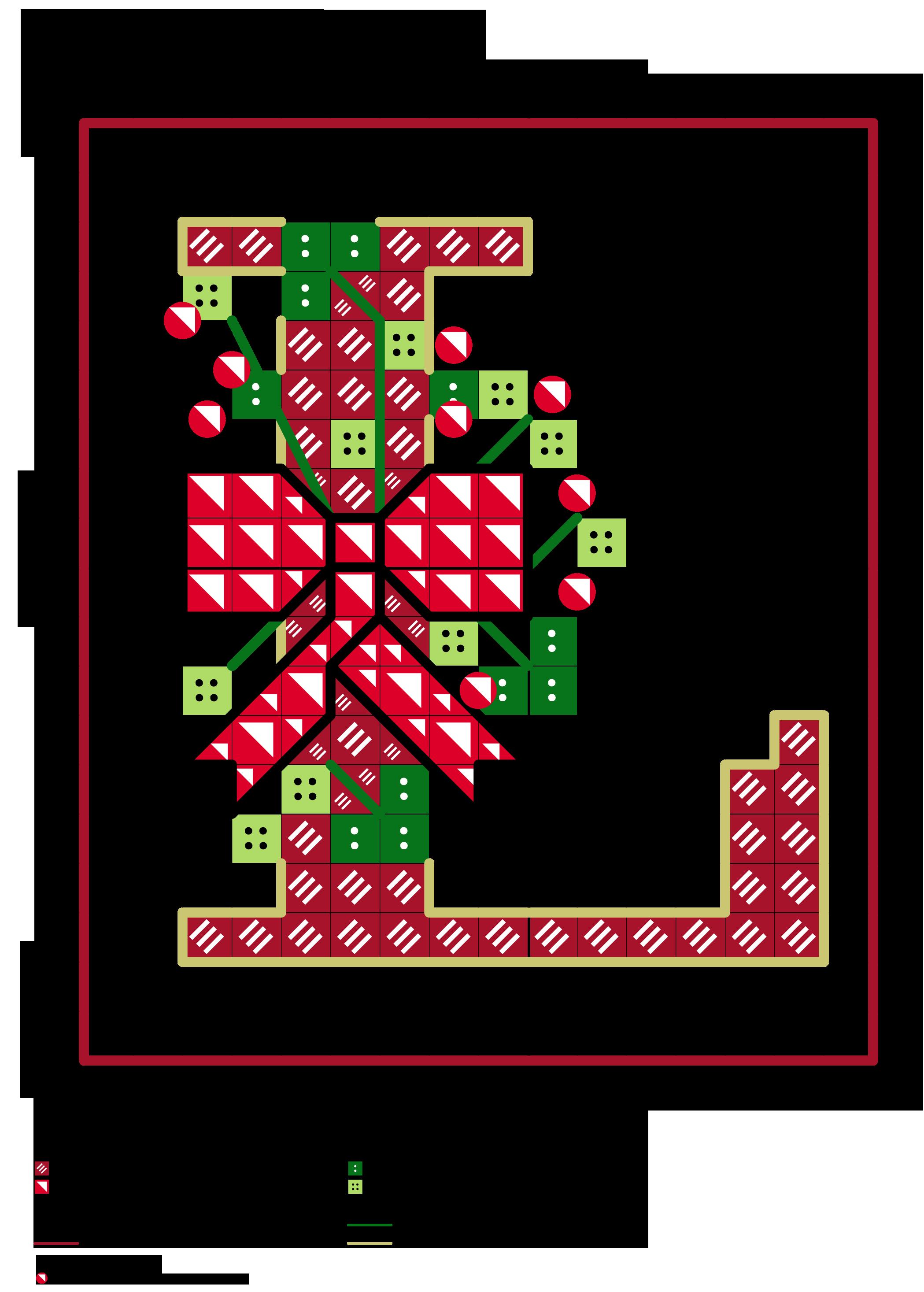 alfabeto dei fiocchetti natalizi L | Alfabeti a punto croce ...