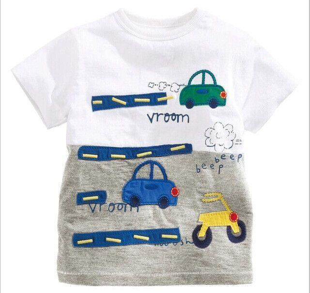 04a65c30488a Children s T shirt Boys T-shirt Baby Clothing Little Boy Summer Shirt Tees  Designer Cotton
