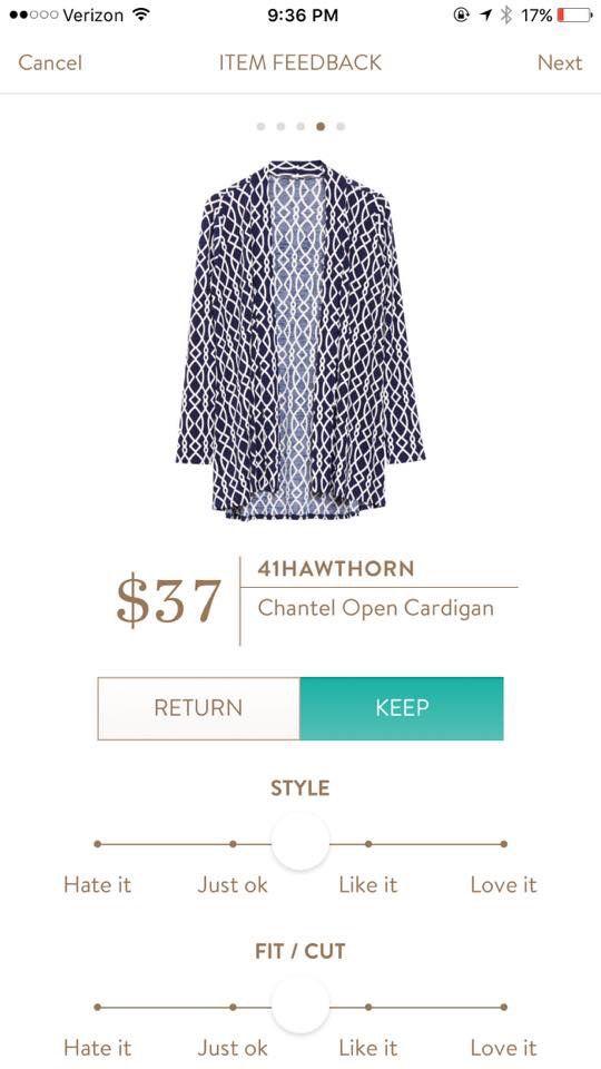 An interesting pattern to this cardigan #stitchfix #affiliate