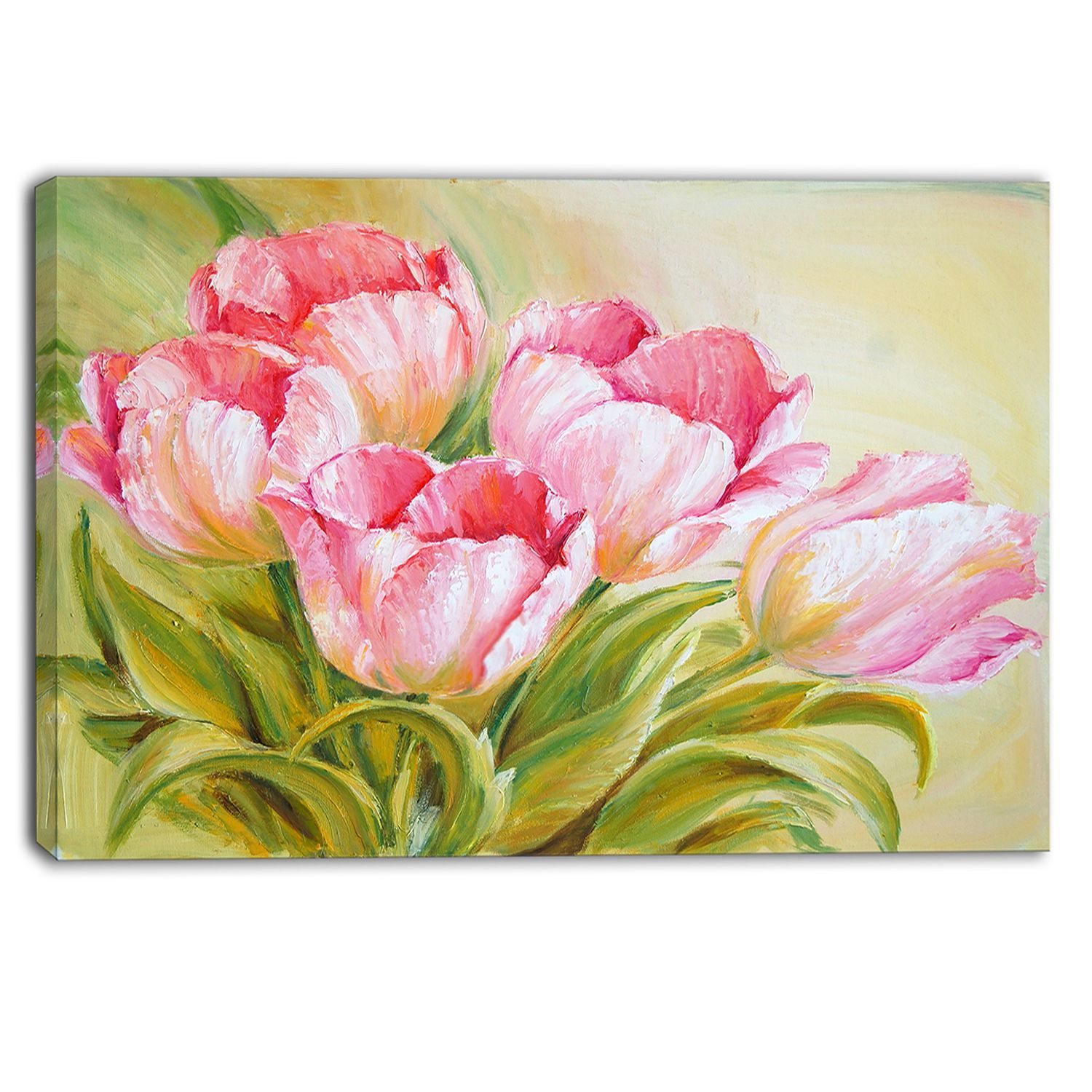 This Beautiful Floral Canvas Art Is Printed Using The Highest