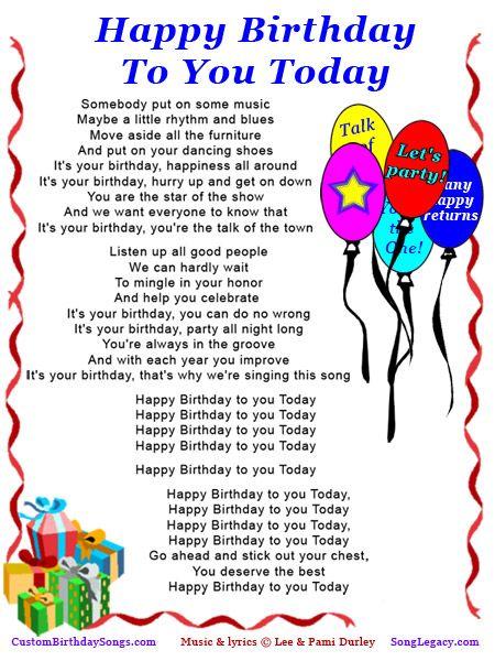 Birthday song lyrics for sister