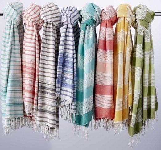 """Amazon.com: DII 100% algodón, lavable a máquina, Toalla Futa turco, de secado rápido, ultra suave y absorbente, Multi Uso de toallas / Manta, 39 x 78 """"- Natural Dobby Limita con: Hogar y Cocina"""