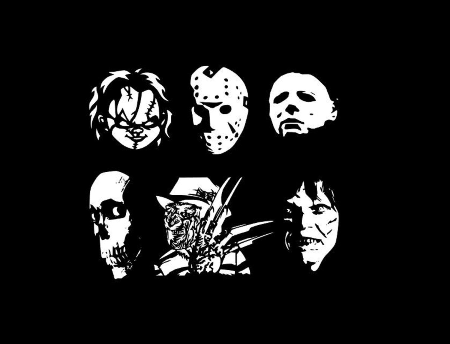 Halloween Horror Movie Character Silhouette Cutting Files