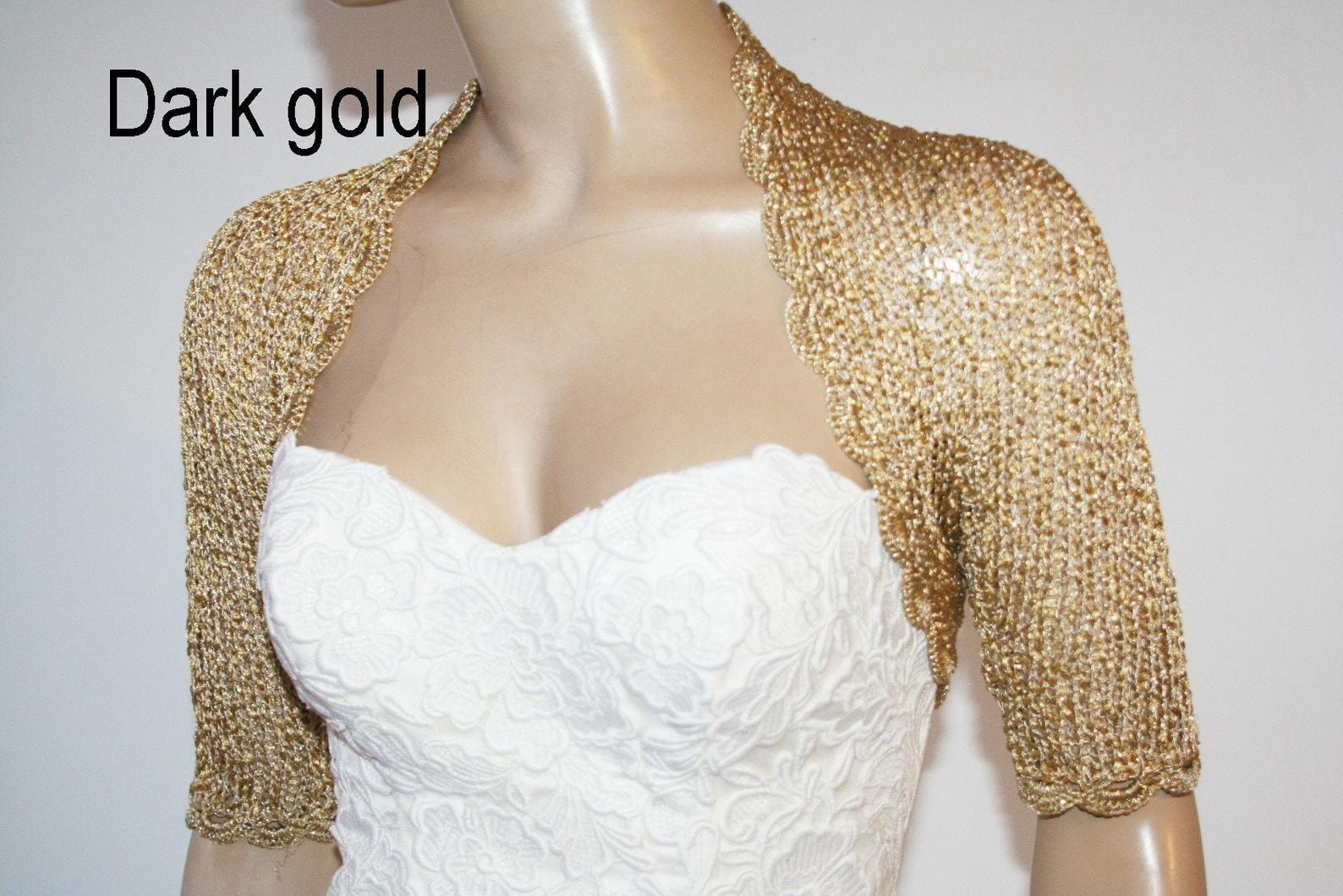 Gold Shrugs For Dresses Bridal Jackets And Shrug Wedding Etsy En 2021 [ 1059 x 1588 Pixel ]