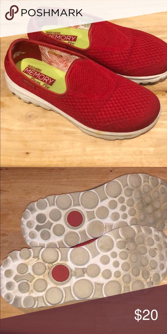 Red Skechers Skechers Womens Shoes Sneakers Skechers Shoes