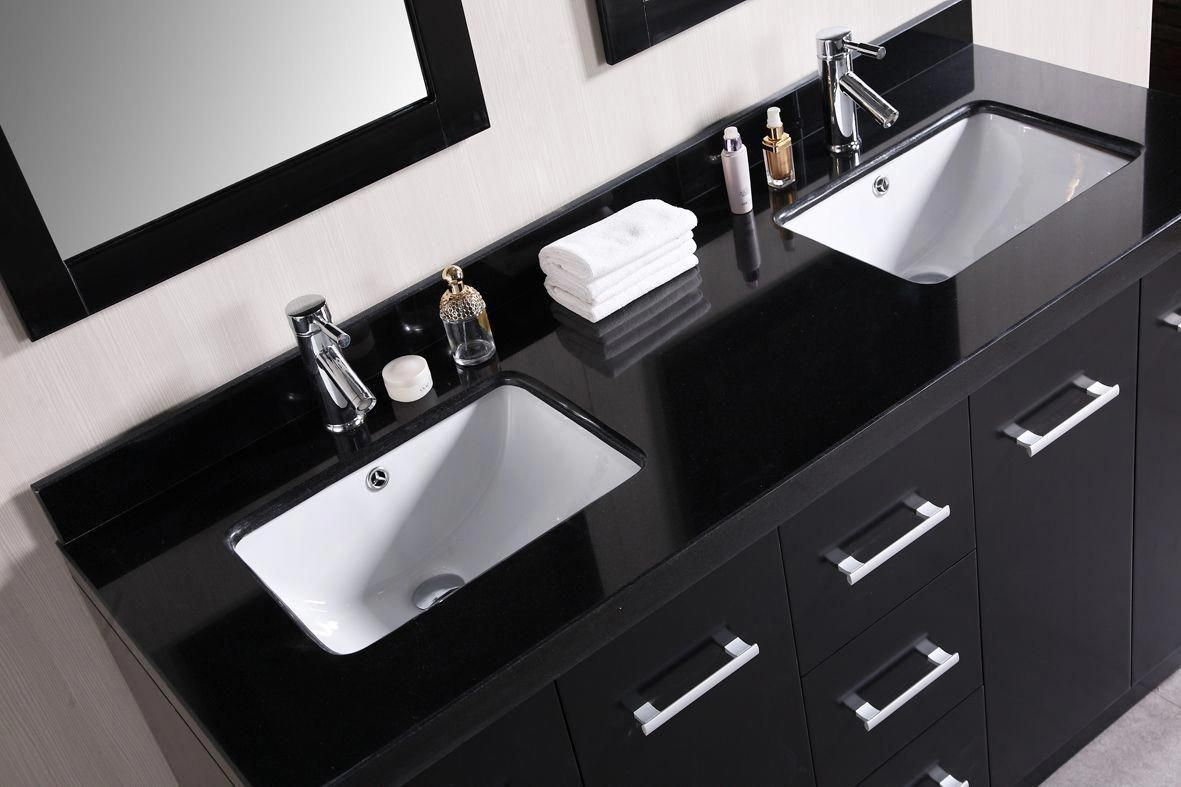 Cosmo 60 Double Sink Bathroom Vanity Top Topluxurybathrooms