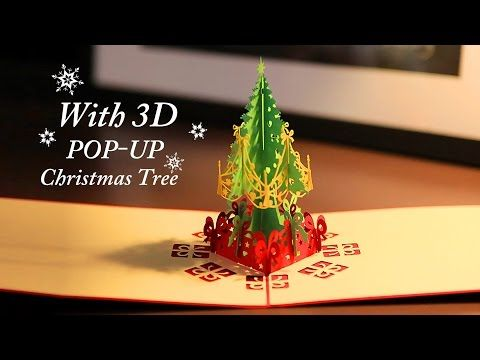 Christmas pop up cards collection by aoc craft youtube kamer christmas greeting card with pop up christmas tree m4hsunfo