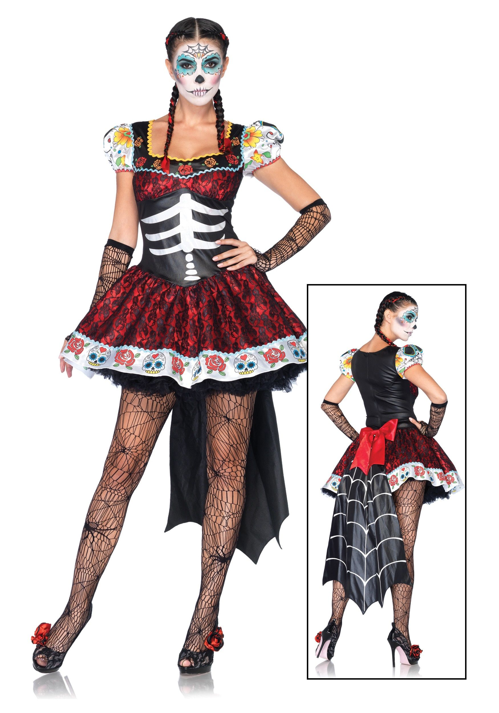 Amazon.com: Day of the Dead Womens Costume Dia De Los ...