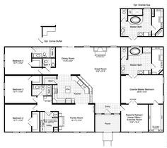 Floor Plan The Hacienda Iii Vrwd76d3 Or 41764a Mobile Home Floor Plans Modular Home Floor Plans Manufactured Homes Floor Plans