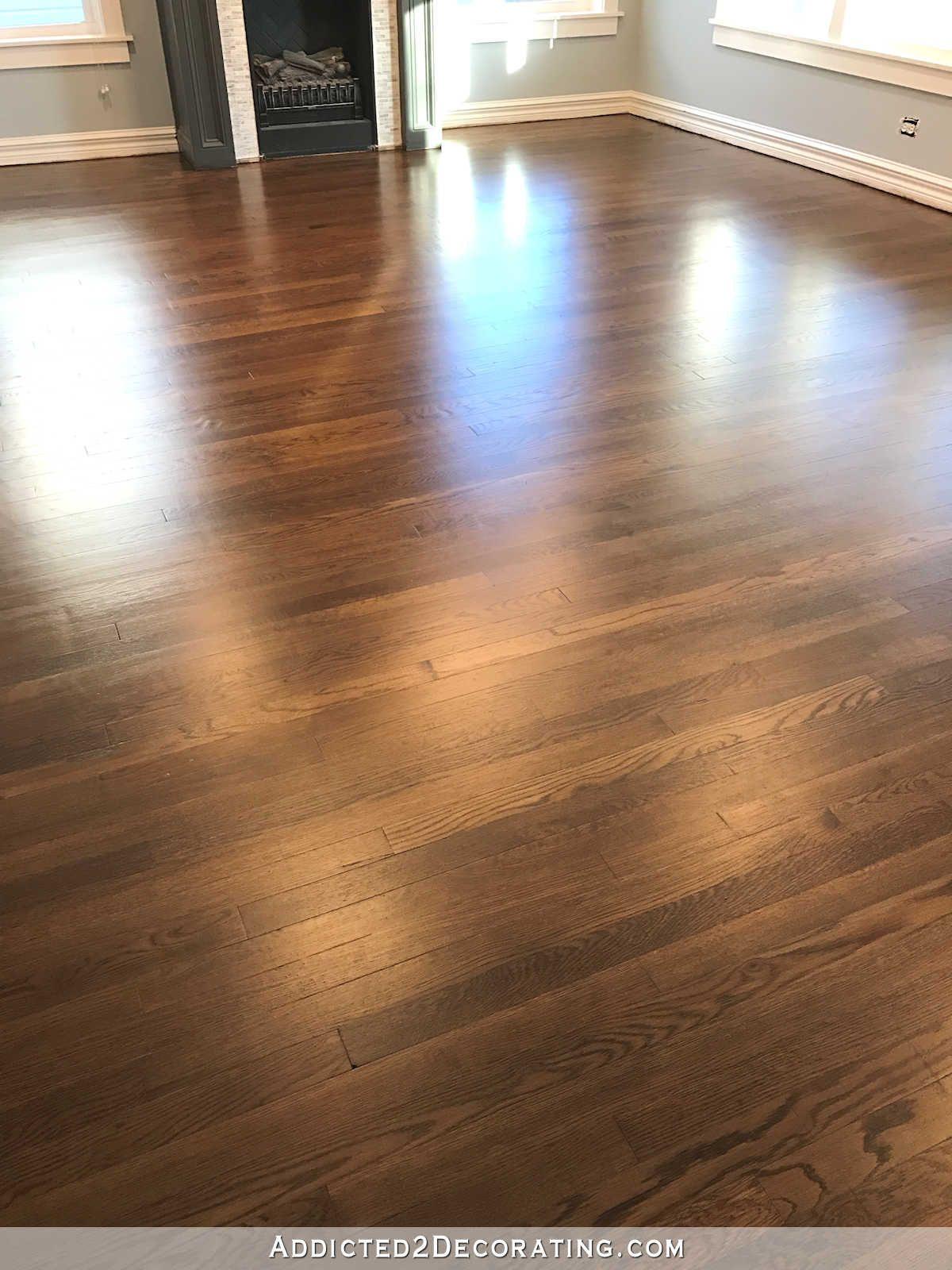 Oak Wood Floors Accent Gray Walls Highlighting A White: Waterlox Vs. Polyurethane For Hardwood Floors