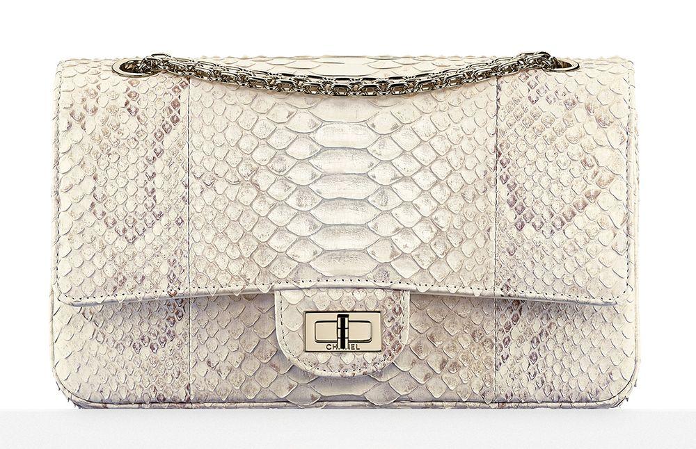 Chanel Python 2 55 Flap Bag