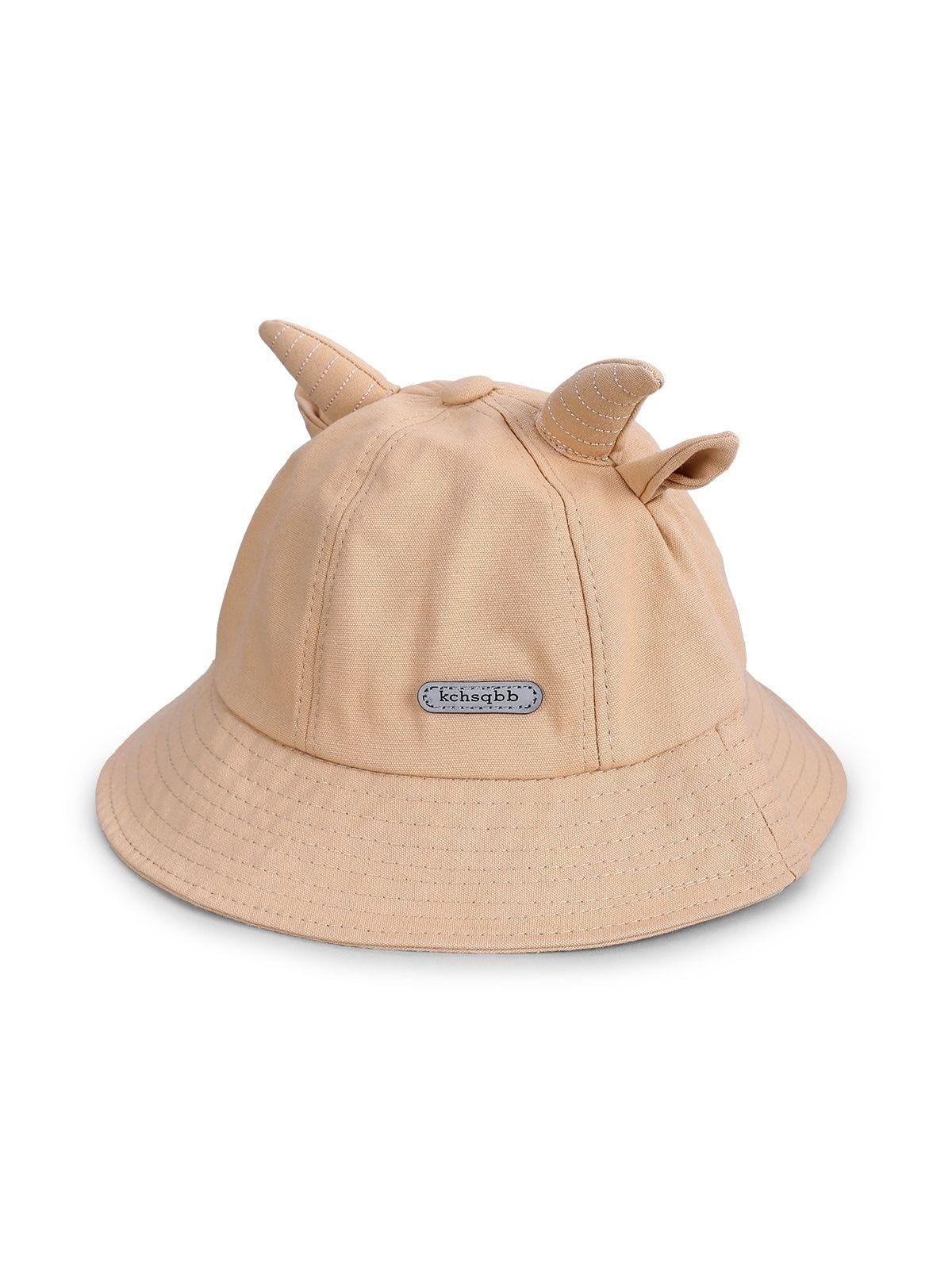 Cute Animal Ear Bucket Hats Black Light Khaki Tangerine Yellow Bucket Hat Black Animal Ears Hats