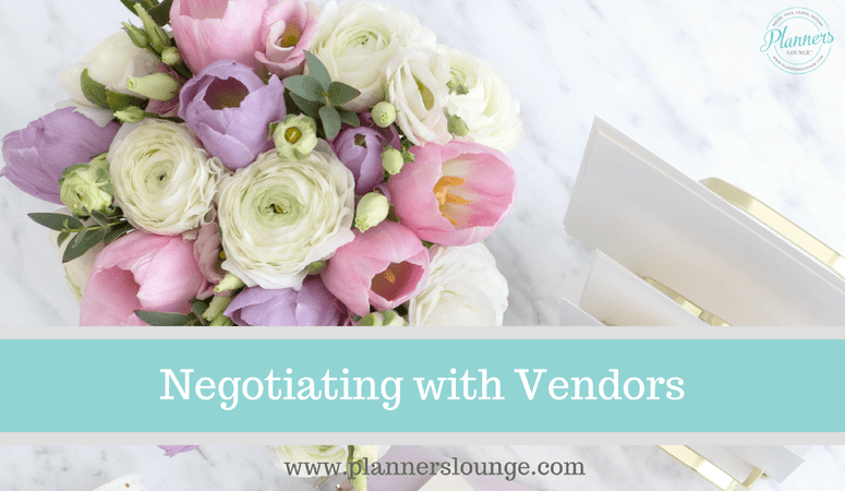 Negotiating With With Event Vendors As A Wedding And Event Planner