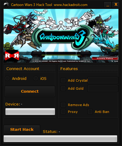 free download cartoon wars 3 hack android