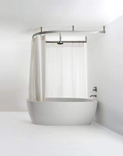 Agape Design - Cooper Hanging Shower Curtain System | Bathrooms ...