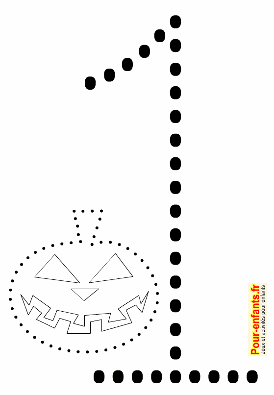 Hervorragend Point à point Halloween à imprimer. Dessin de citrouille en  LX63