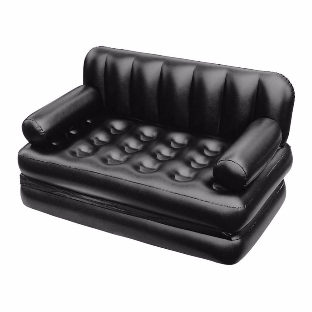 Inflatable Double Sofa Air Cushion Folding Bed Couch Blow Up