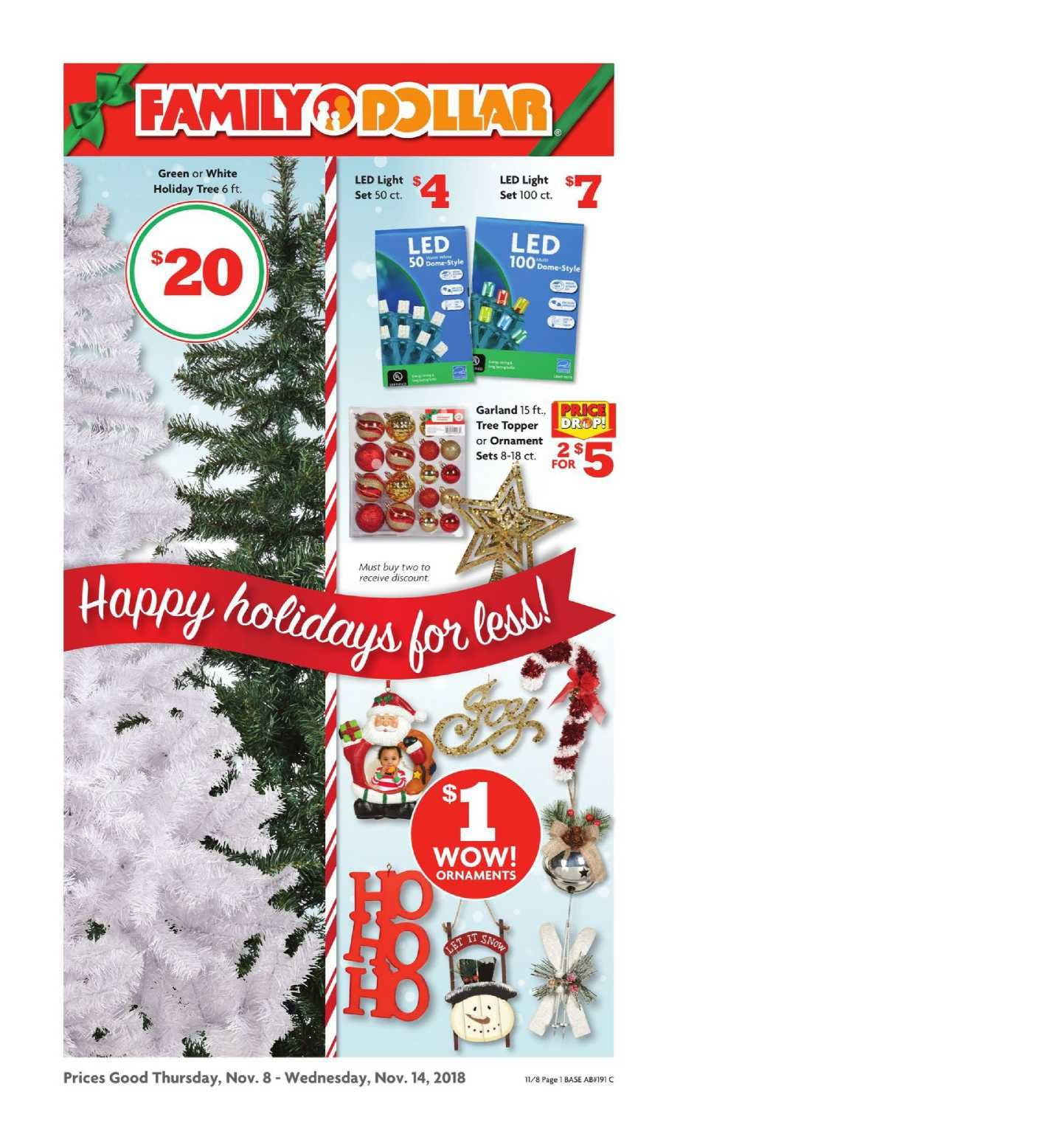Family Dollar Christmas Trees.Family Dollar Weekly Ad Flyer December 31 2018 January 29