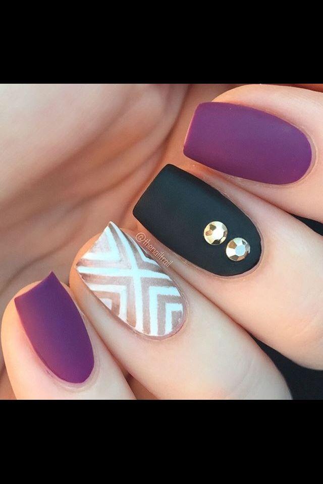 thenailtrail | Makeup/nails | Pinterest | Long dark hair, Matte ...