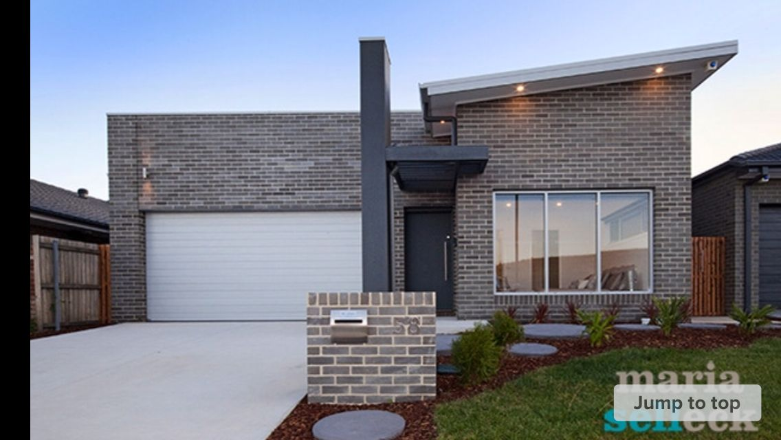 Austral chiffon bricks facade Maison Pinterest Brick facade - calcul surface facade maison