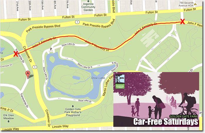 CarFree Saturdays begin in Golden Gate park tomorrow through