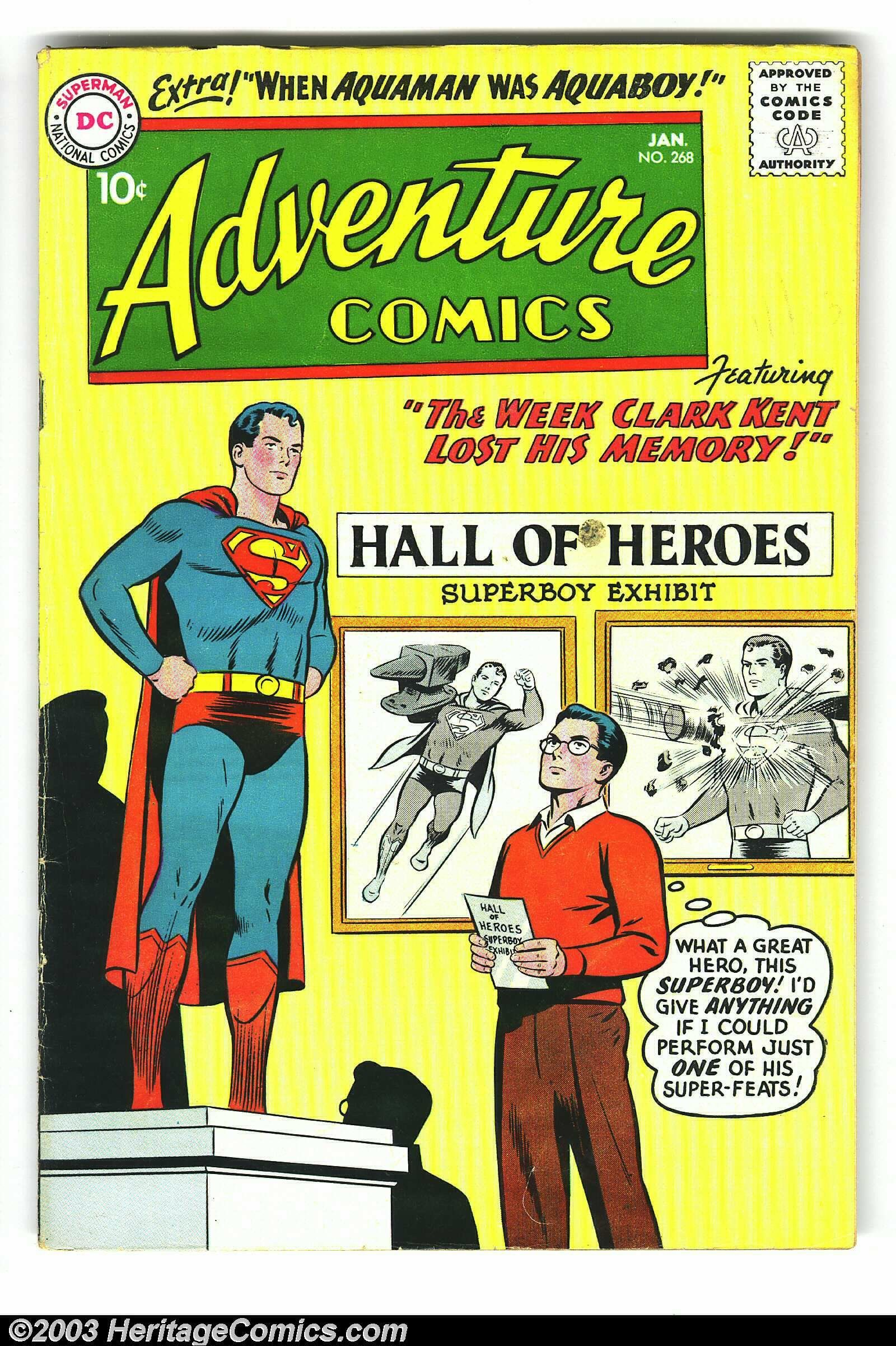 Adventure Comics Group (DC, 1956) - Before our comic book heroes ...