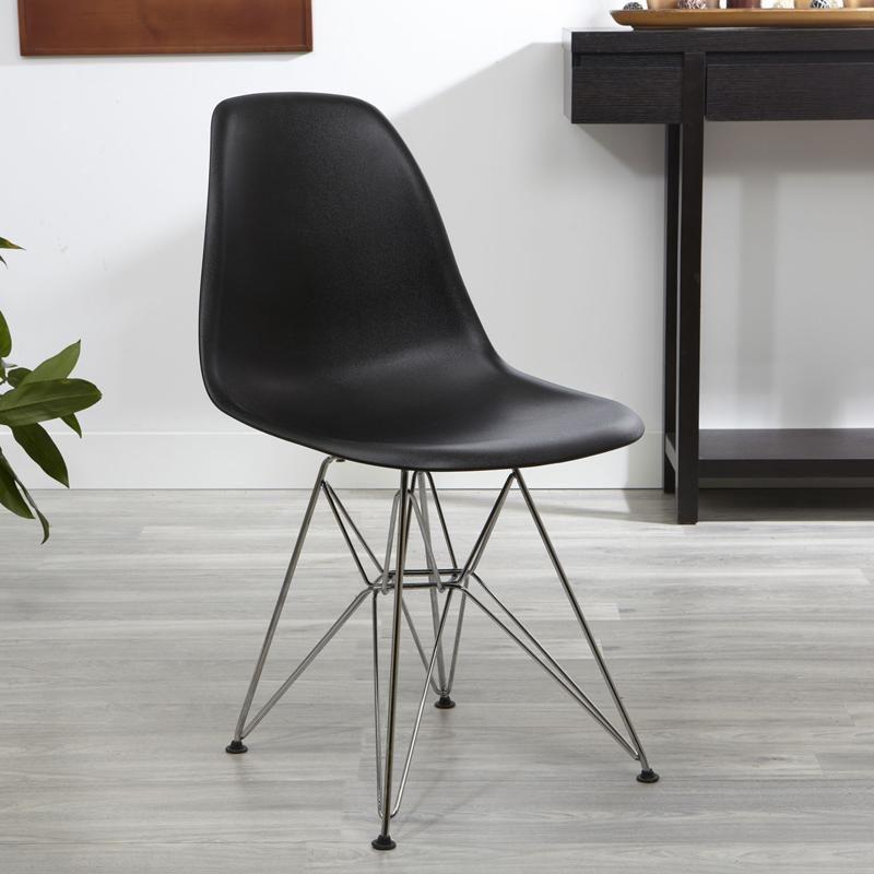 ksp eiffel chair w chrome frame 56 x 47 x 81 5 cm black kitchen