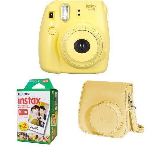 Fujifilm Instax Mini 8 Yellow Instax Mini Twin Pack F