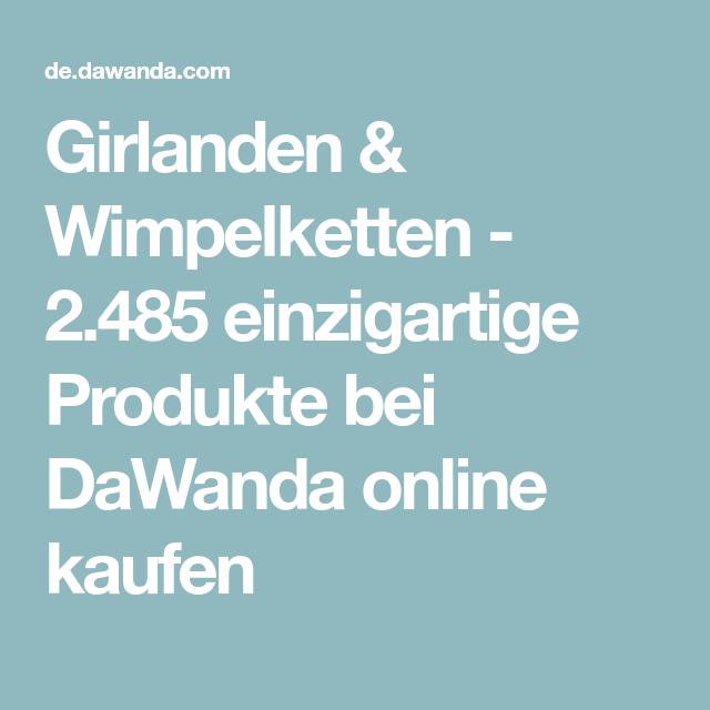 Girlanden & Wimpelketten - 2.485 einzigartige Produkte bei DaWanda online kaufen