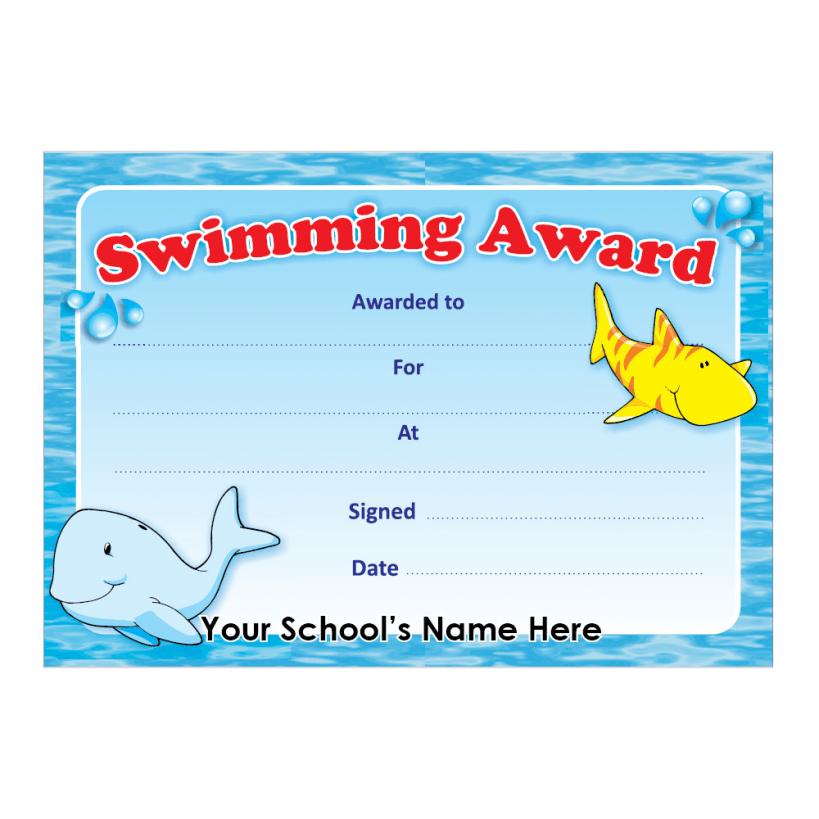 Swimming Award Certificate Swim Lessons Pinterest Swim Lessons