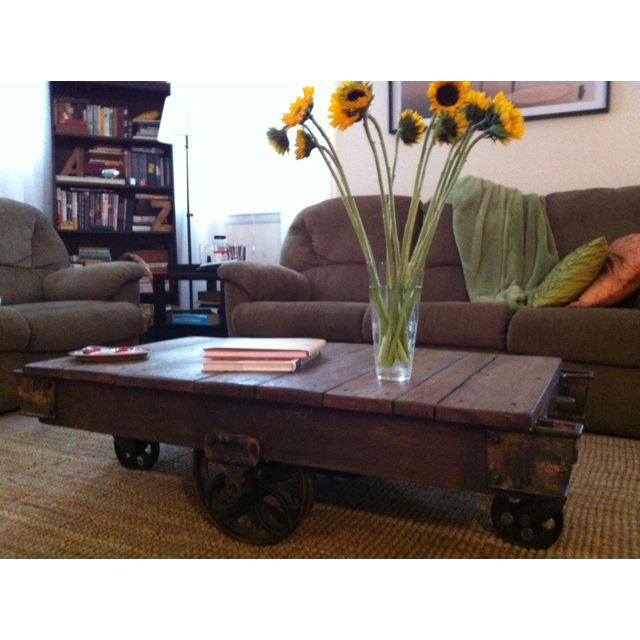 Antique furniture mover cart repurposed as a coffee table - Antique Furniture Mover Cart Repurposed As A Coffee Table My Stuff