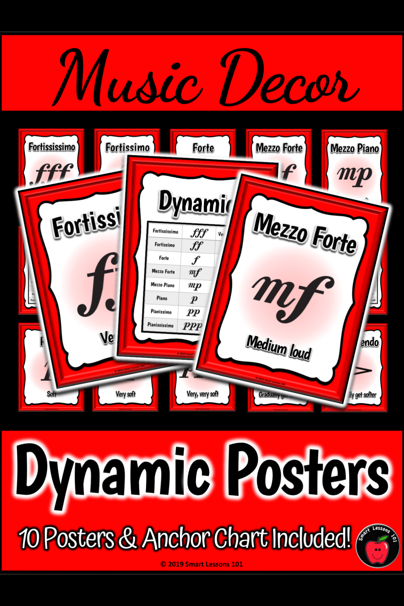 Dynamic Posters Classroom Decor Music Bulletin Board