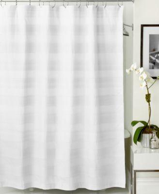 Harbour Stripe Shower Curtain White Shower Curtain Hotel