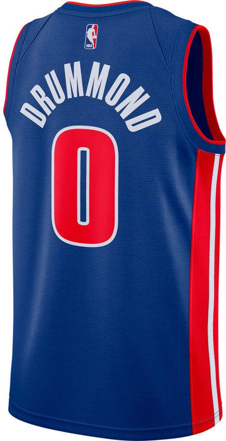 Nike Men S Detroit Pistons Nba Andre Drummond Icon Edition Connected Jersey Detroit Pistons Nike Men Andre Drummond