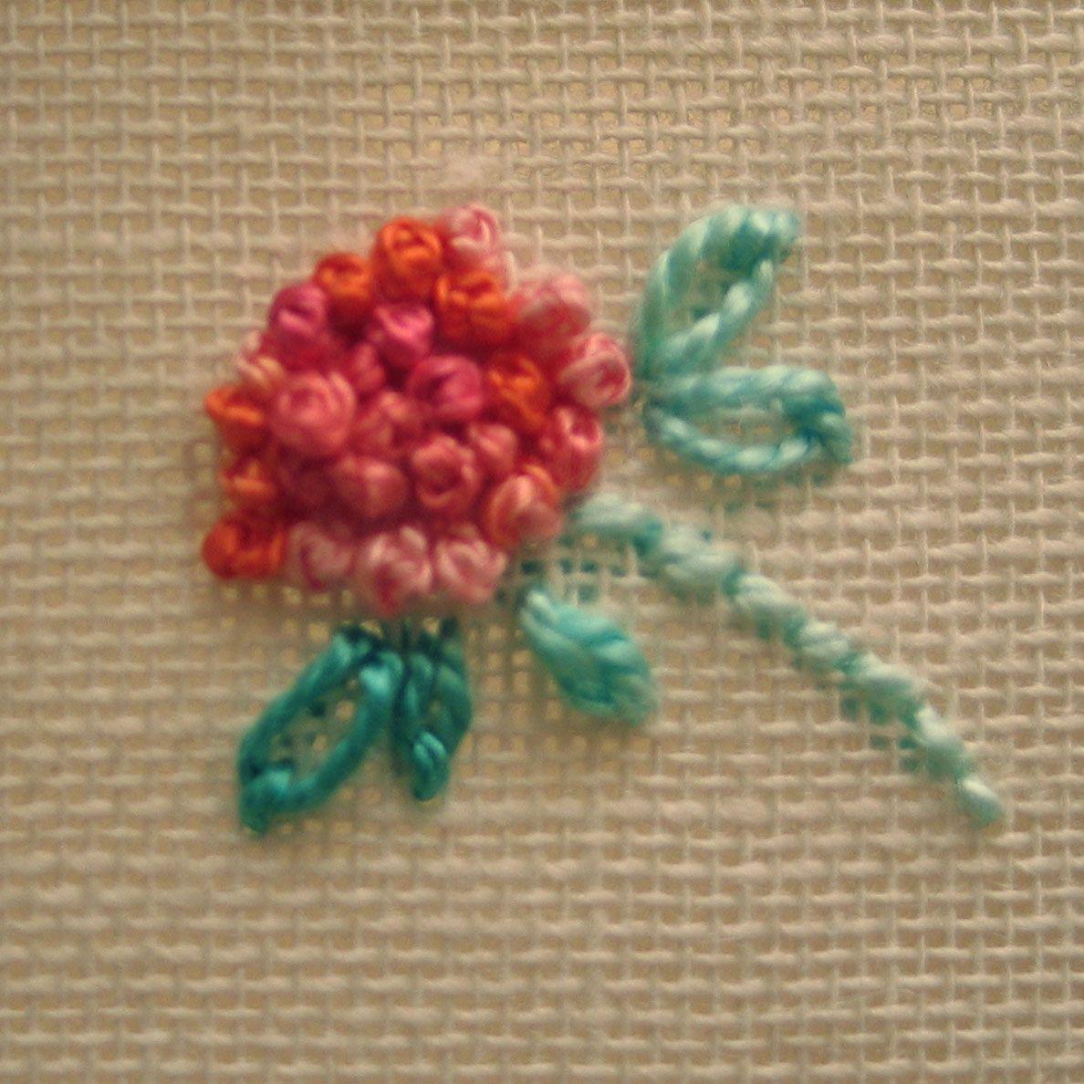 Stitch anatomy french knot knit crochet sew quilt