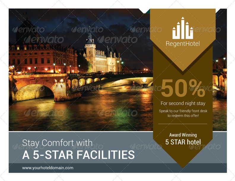 Hotel Promo 8 Pages Simple Brochure hotel flyers Pinterest - hotel brochure template