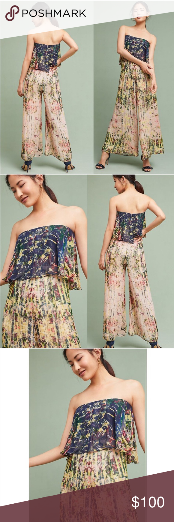 30edf12701a9 Anthropologie HTF Strapless Jumpsuit Size S New without tags Brand and size  tags fell off Anthropologie