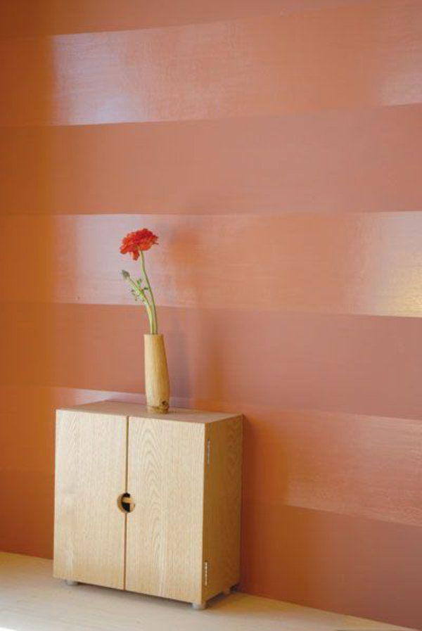 Gut Tolle Wandgestaltung Mit Farbe Wände Gestalten Streifen