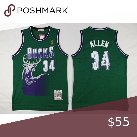 Milwaukee Bucks Ray Allen Jersey Brand New With Tag True To Size Fully Stitched Anthony Davis Golden Stat Ray Allen Jersey Milwaukee Bucks Ray Allen