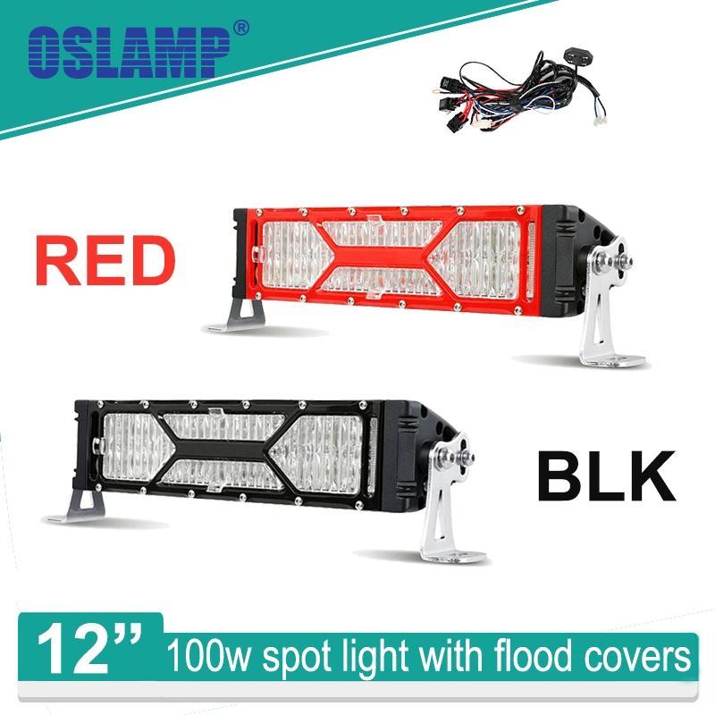 "89.99$  Watch here - http://aliavp.worldwells.pw/go.php?t=32679276088 - ""Oslamp X-Series 100W 12"""" CREE Chips Spot LED Light Bar 12"""" Work Light with Flood Mask 12v 24v Truck Boat ATV SUV 4WD Car LED Bar"" 89.99$"